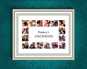 Customisable Family Photo Collage