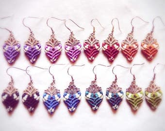 Mini-Lotus Spring Earings * handmade makramé Jewelry
