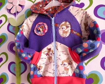Hoodi, Hoody, jacket with thumb holes desired fabric