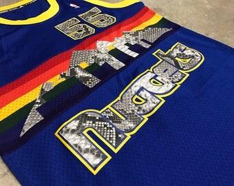 Denver Nuggets Dikembe Mutumbo Genuine Python Stitched Adidas Authentic Basketball Jersey NBA #55