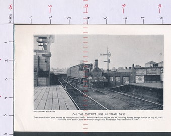 On the District line in steam days in 1902  Printed photograph ZAS75