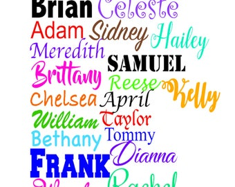 Name Decal, Name Stickers, Word Decals, Yeti Name Decal, Tumbler Cup Decals, Window Name Decals, Car Window Decal, Laptop Name Decal