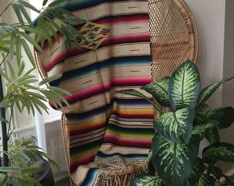 Vintage Saltillo Blanket, Saltillo Blanket, Serape Saltillo Blanket, Serape, Saltillo, Mexican Blanket, Vintage Serape