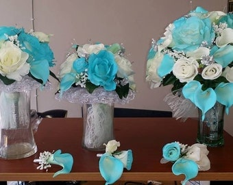 Complete Wedding Bouquet Sets - Corsages, Boutineers, Boutiques