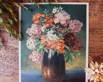Floral bouquet art. Vintage floral art. Botanical art print. Vintage botanical art. Gallery wall art. Antique art. Vintage art. Garden art.