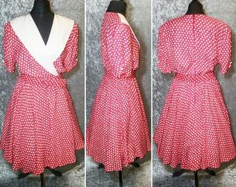 Original Vintage 80's does 50's Tea Dress