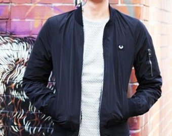 Junq Couture Heka 201 Black Classic Bomber Jacket