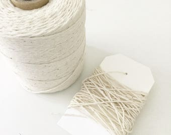 Natural Cotton Jute Twine 1mm Thickness, Bakers Twine String, DIY Craft Supplies, DIY Party Supplies, DIY Weddings, Packaging, Gift Wrapping