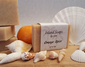 Orange Spice Soap, All Natural, Cold Process, Handmade, and Handcrafted.
