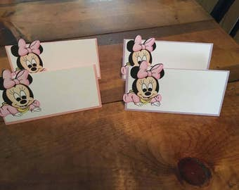 12 Disney Inspired Baby Minnie Mouse Place Food Tent Cards