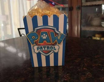 12 Paw Patrol Mini Party Favor Popcorn Boxes