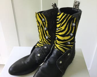 Amazing handmade full leather ANIMAL boots 7