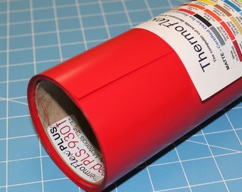 "Red ThermoFlex Plus 15"" x 15' Roll * Heat Transfer Vinyl * HTV"