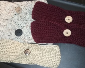 Ear Warmers with Buttons