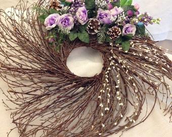 Purple Wicker Wreath