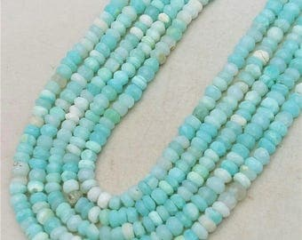 "Nice PERUVIAN OPAL faceted beads,Peru opal faceted rondelles ,good quality,  4 mm -- 4.5 mm  approx,13""strand[E0415]"