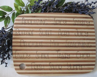 Two-Toned Fresh Bamboo Cutting Board