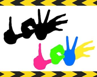 Love sign SVG file Original art prints DIY Shirt decals Cricut Silhouette SVG designs Dxf Pdf Png