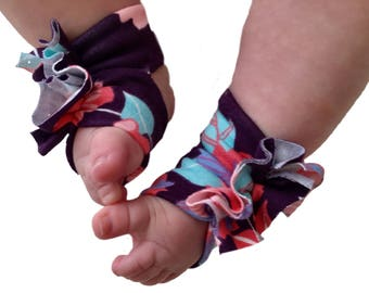 Baby Sandals - Baby Barefoot Sandals - Baby Floral Shoes - Baby soft shoes - Baby Shower - Baby Girl Barefoot Shoes - Baby Accessory -