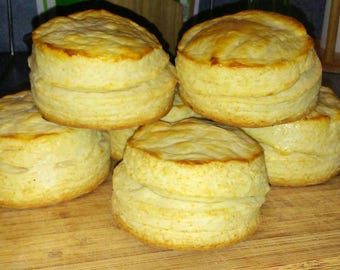 XL Southern Buttermilk Biscuits/ Traditional American Buttermilk Biscuits