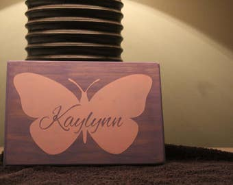 Butterfly custom name sign