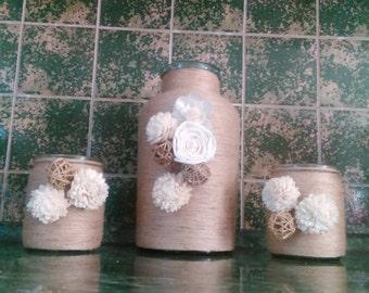 3 pieces Vases