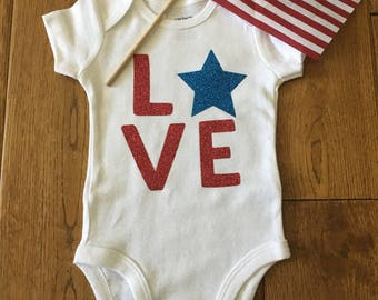 4th of July Bodysuit- Babies 1st 4th