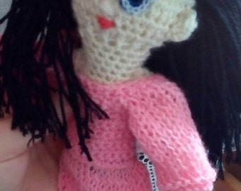 Doll with black hair...