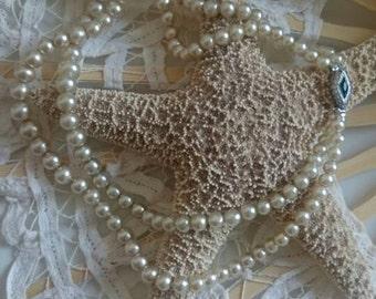 Vintage wedding pearls - art Pearl necklace, cream, Collier, jewel, wedding, faux pearls