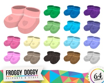 Baby Shoes Clipart, Baby Shower Clipart, Children Clipart, Toddler Clipart, Nursery Clipart, Planner Clipart, Scrapbooking Cliparts