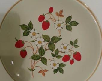 Vintage Sheffield Strawberries 'n Cream Stoneware Plate