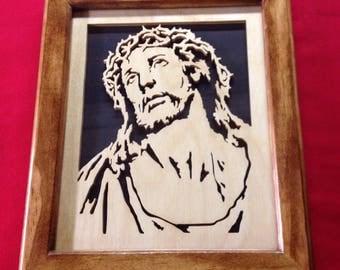 Jesus Wooden Portrait