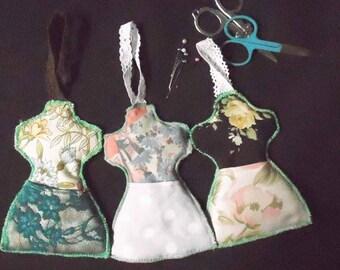mannequin shaped scissors holder, scissor holder/pincushion, sewer's gift, cute hanging scissors holder, wall scissors holder, sewing gift