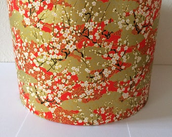 Chiyogami - Japanese paper lampshade 30 cm x 21 cm