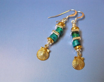 Camino de Santiago concha shell earrings - golden