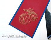 USMC Eagle Globe Anchor Bookmark- Psalm 91 Scripture-  Limited Edition United States Marine Corps Bookmark Scripture- Have Faith Stationery