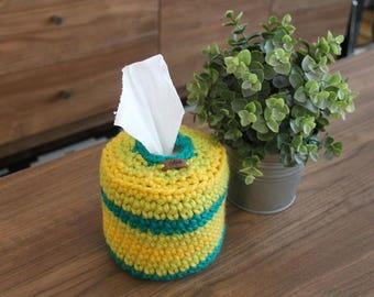 Crochet Chunky Tissue Dispenser - Toilet Paper Cover