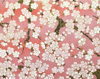 Clearance Sale - A4 size - High quality Japanese paper - Washi - Chiyogami - Kyoto yuzen paper - No.K001