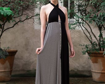 Long dress neckline Jersey