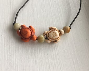 Two turtle necklace