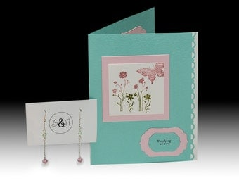 Thinking of You Card and Earrings Gift