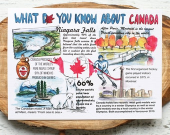 "Postcard ""What do you know about  Canada"""
