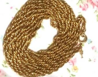Crown Trifari gold rope chain