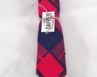 """Men's Red and Navy tie (2 1/4"""")"""