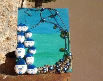 Greek island - rock art