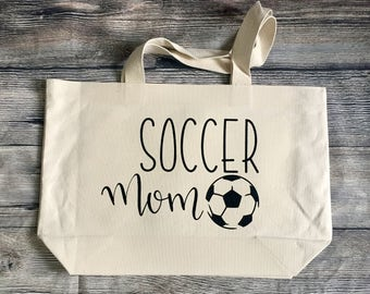 Canvas Tote 21x14 Market Bag Soccer Mom