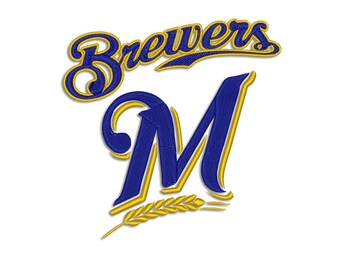 Brewers embroidery design - Machine embroidery design