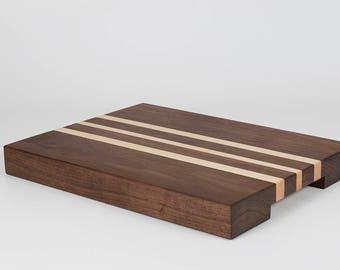 Walnut & Maple Butcher Block Cutting Board