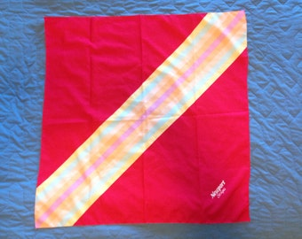 Vintage Newport Stripes Scarf - 29 Inches Square Scarf
