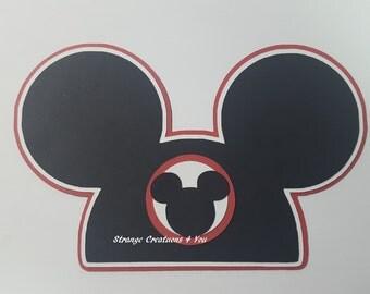 Disney, Mickey Mouse Ears, Die Cut, Paper piecing